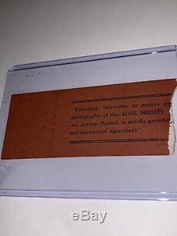 Elvis Concert Ticket Stub Columbus Ohio 1974 second row / Rare