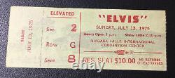 Elvis Concert Ticket Stub July 13, 1975 Niagara Falls New York