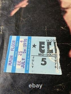Elvis Concert Ticket Stub / July 5, 1976 / RARE Mid-South Commercial Appeal