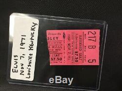 Elvis Concert Ticket Stub Louisville Kentucky 1971