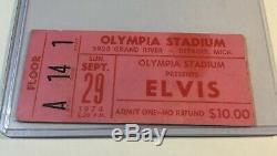 Elvis Concert Ticket Stub Sept 29, 1974 Detroit Michigan