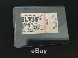 Elvis Concert Ticket Stub Tulsa Oklahoma July 4, 1976
