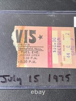 Elvis July 15, 1975 Springfield Mass Concert Ticket Stub RARE