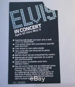 Elvis Lake Tahoe Concert Ticket Stub 1976 RARE