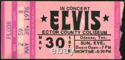 Elvis Presley-1976 RARE Concert Ticket Stub (Odessa-Ector County Coliseum)