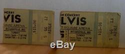 Elvis Presley-1977 RARE Concert 2 Ticket Stubs (Indianapolis-Last Ever Concert)