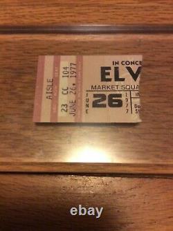 Elvis Presley 1977 last concert ticket stub
