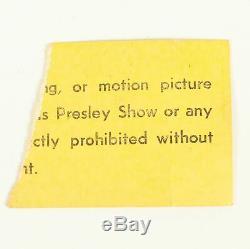 Elvis Presley Concert Ticket Stub April 15, 1972 Macon GA