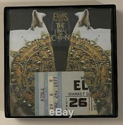 Elvis Presley Final Concert June 2 1977-The Final Curtain-Last Show Ticket Stub