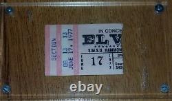 Elvis Presley- June 17 1977 RARE Concert Ticket Stub -First of last nine shows