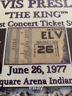 Elvis Presley Last Concert Ever Ticket Stub In Display