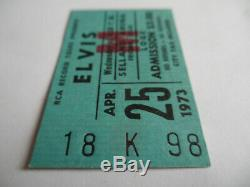 Elvis Presley Original 1973 CONCERT TICKET Stub Fresno, CA EX++