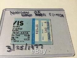 Elvis Presley Original Concert Ticket Stub Norman OK March 25, 1977