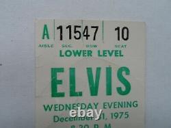 Elvis Presley Original Concert Ticket Stub Pontiac, MI December 31, 1975 NYE