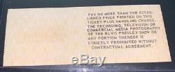 Elvis Presley Original Concert Ticket Stub Sept. 16, 1977 Terra Haute, Indiana