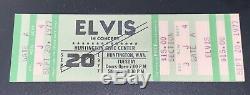 Elvis Presley Original Concert Ticket Stub Sept. 20, 1977 Huntington, W. VA