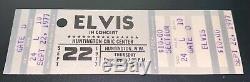 Elvis Presley Original Concert Ticket Stub Sept. 22, 1977 Huntington, W. VA
