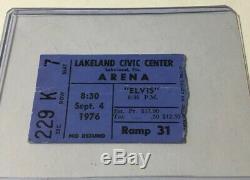 Elvis Presley Original Concert Ticket Stub Sept 4, 1976 Lakeland Florida