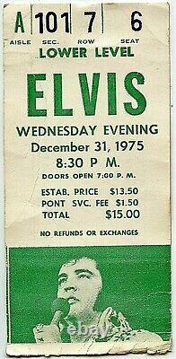 Elvis Presley Original Concert Ticket Stub/photo Pontiac, MI Dec 31, 1975