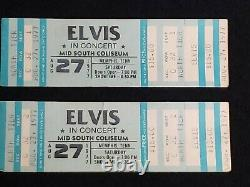 Elvis Presley Unused tickets stub from Aug 27 1977 concert that never happened
