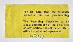 Elvis Presley Vintage Concert Ticket Stub/photo Evansville, In Oct 24, 1976