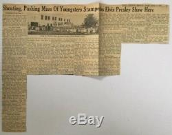 Elvis Tampa 1956 Concert Ticket Stub With Amazing Newspaper Article Rare