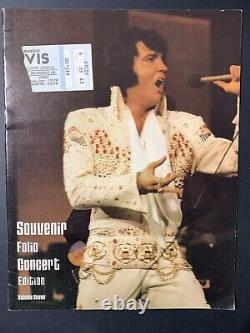 Elvis Ticket Stub Last Concert June 26, 1977 Indianapolis Indiana / Program