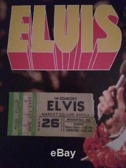 Elvis concert ticket. Original rare ticket stub 1977 concert Indianapolis, In