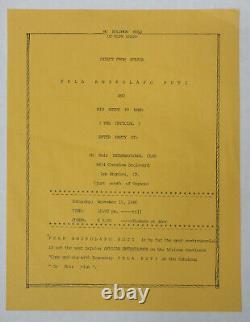FELA KUTI Olympic Auditorium 1986 Concert TICKET Stubs + PARTY INVITE Afro JAZZ
