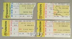 FOUR Authentic 1975 Elvis Presley concert ticket stubs and COAs FREE SHIPPING