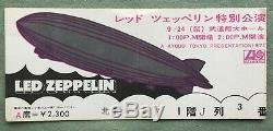 FREE ship! LED ZEPPELIN JAPAN original 1971 concert ticket stub (NOT tour book)