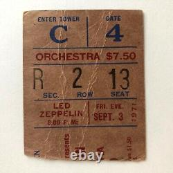 FRI SEPT 3, 1971LED ZEPPELINCONCERT TICKET STUB'ZoSo'MADISON SQ. GARDEN, NYC