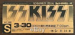FUKUOKA gig! Kiss JAPAN 1977 concert ticket stub ORIGINAL Gene Simmons FREE ship