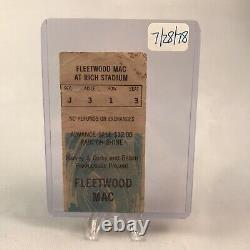 Fleetwood Mac Rich Stadium Buffalo NY Concert Ticket Stub Vintage July 28 1978