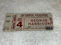 GEORGE HARRISON 1974 CONCERT TICKET STUB OLYMPIA STADIUM DETROIT The Beatles