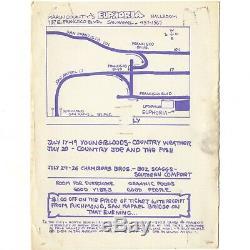 GRATEFUL DEAD Concert Handbill 1970 SAN RAFAEL CA EUPHORIA DANCE Not Ticket Stub