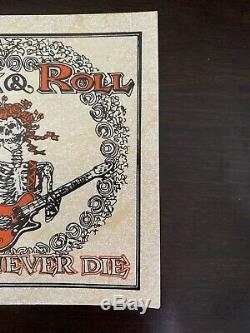 GRATEFUL DEAD Concert Ticket Stub PASSAIC 3/31/80 CAPITOL THEATRE SILVER FOIL