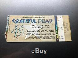 GRATEFUL DEAD JERRY GARCIA Concert Ticket Stub July 9, 1995 CHICAGO IL LAST SHOW