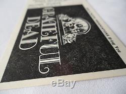 GRATEFUL DEAD Original CONCERT Ticket STUB Hollywood Palladium