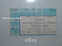 GUNS N' ROSES'90 FARMAID Concert Ticket Stub LOU REED John Denver HOOSIER DOME