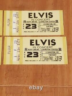 Genuine Vintage Elvis Presley Concert Ticket Stub Lot (6) Lexington, KY Aug. 23