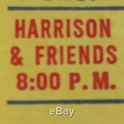 George Harrison 1971 Concert Bangladesh Ticket Stub MADISON SQUARE GARDEN, Beatle