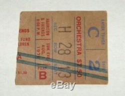 George Harrison & Friends Concert for Bangladesh Ticket Stub Aug. 1, 1971 MSG