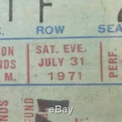 George Harrison & Friends Concert for Bangladesh Ticket Stub Sat. 7/3 1971 -MSG