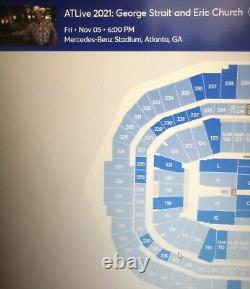 George Strait & Eric Chuch 11/05 Suite Concert Electronic Tickets Atl