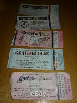 Grateful Dead (31) Concert Mail Order Ticket Stubs LOT 1992-1995 WOW