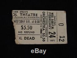 Grateful Dead Concert Ticket Stub Capitol Theatre Port Chester Ny 2/24/71