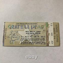 Grateful Dead Soldier Field Jerry Garcia LAST SHOW Concert Ticket Stub Vtg 1995