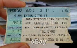 Grateful Dead final concert ticket stub (7/9/95)