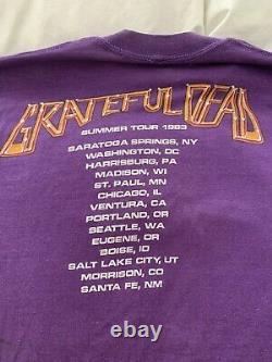 Grateful dead concert tee shirt plus ticket stub circa 1983